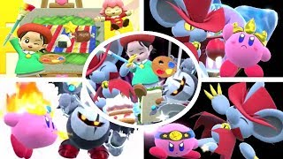 Kirby Star Allies - Adeleine & Ribbon, Dark Meta Knight and Daroach Friend Abilities