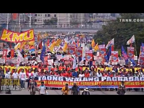 Philippine Authorities Violently Crackdown on 'People's State of the Nation March'