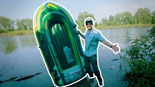 Video I Brought a Fishing Raft to a HIDDEN POND in the Woods! download MP3, 3GP, MP4, WEBM, AVI, FLV Agustus 2018
