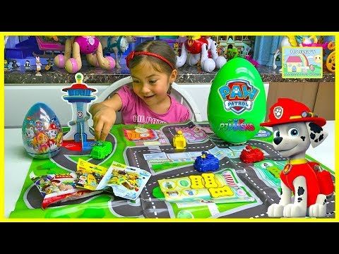 Learn Colors with Nickelodeon Paw Patrol Game Big Surprise Egg Prize PawPatrol Easter Eggs PJ Masks