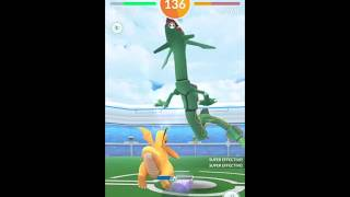 Windy weather boosted Rayquaza duo with all Dragonite (55 sec left)