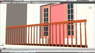 CREATING BALUSTERS AND HANDRAIL IN THE BALCONY | AUTOCAD 3D BALCONY