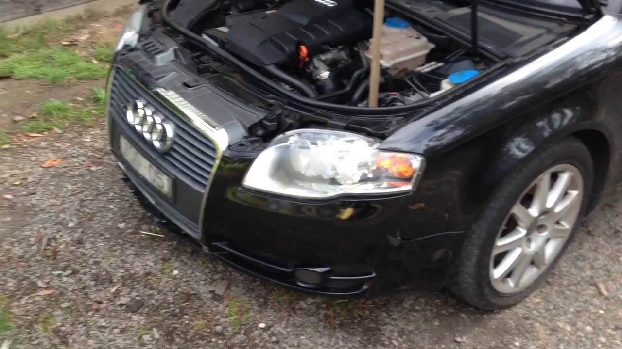 audi a4 bonnet gas strut replacement youtube rh youtube com 2001 Audi A4 1.8T 2001 Audi A4 1.8T Interior