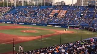2017.4.28 ヤクルト vs 巨人 新川優愛 始球式.