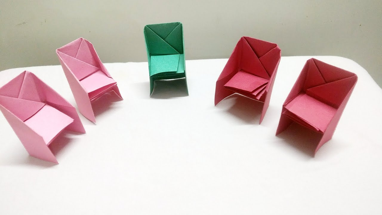 Origami Chair Tutorial How To Make Origami Chair Origami And Craft Activites For Kids Under 5