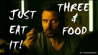 Three + Food - Just eat it! (Humor)