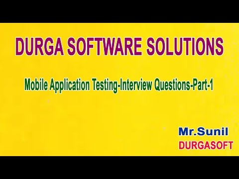 Mobile Application Testing Interview Questions Part 1