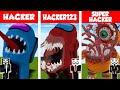 Minecraft HACKER vs HACKER vs HACKER: AMONG US HOUSE BUILD CHALLENGE in Minecraft / Animation