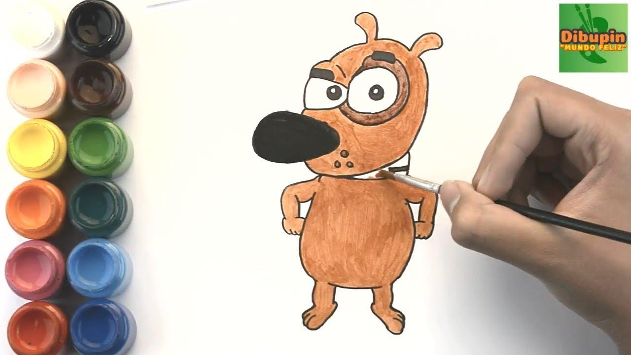 Como Dibujar Y Colorear A Mi Perro Pathow To Draw And Color Pat The Dog