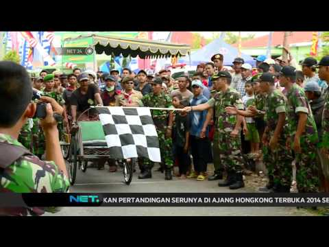 Manuver Canggih di Lomba Balap Becak di Surabaya -NET24