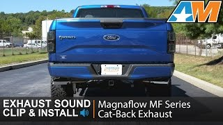 2015-2016 F-150 Magnaflow MF Series Cat-Back Exhaust  Sound Clip & Install