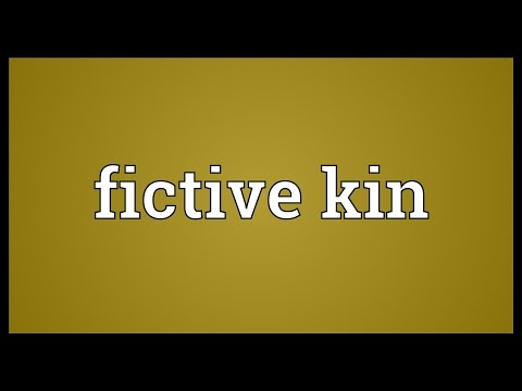 Fictive kin Meaning