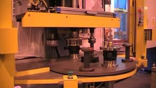 Assembly of brake disk, wheel bearing, ABS sensor ring and circlip