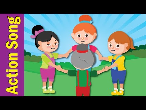 Around a Circle | Action Songs for Kids | Kindergarten, Preschool & ESL | Fun Kids English