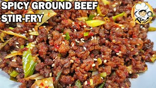 SUPER EASY AT PANG-RESTAURANT NA LUTO SA GINILING NA BAKA (SPICY GROUND BEEF STIR-FRY)
