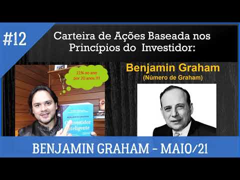 Benjamin Graham #12 - Montando uma Carteira de Ações baseada nos princípios de B. Graham - MAIO/21
