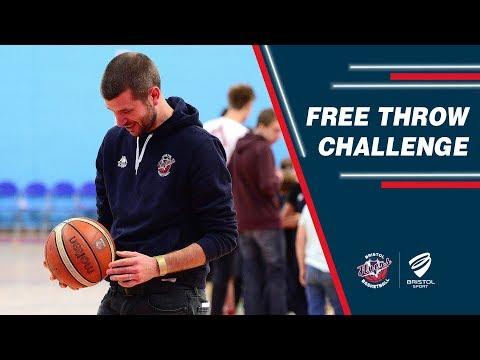 Bristol Flyers free throw challenge - Jon Lansdown