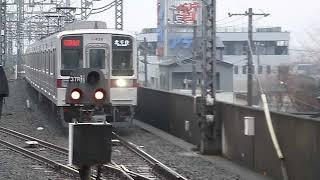 東武スカイツリーライン朝ラッシュ 区間急行4+4両編成 北越谷駅通過