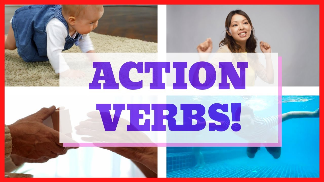 Verbs to teach kids - 50+ action verbs for kids!