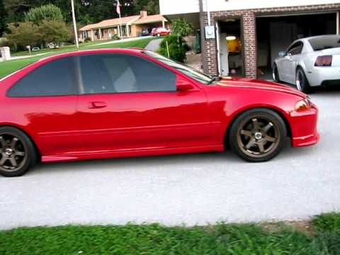 1995 honda civic ex video youtube. Black Bedroom Furniture Sets. Home Design Ideas