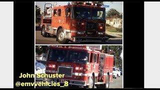 *AIR HORN Q AND B&M* Long Beach Fire Engine 14 and Truck 17 Responding