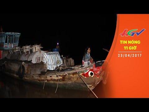 TIN NÓNG 11 GIỜ |Va chạm trên sông Gành Hào, ghe chở cát 17 tấn bị chìm |  NGÀY 23/04/2017