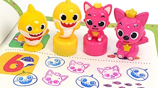 Pinkfong Baby shark, comes out when you stamp it! Pinkfong stamp stamping game | PinkyPopTOY