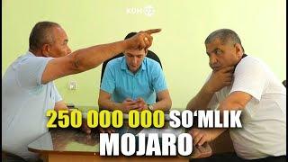 BANK VA TADBIRKOR O'RTASIDAGI 250 MILLION SO'MLIK MOJARO