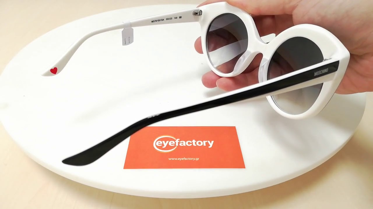 fcd0330782 Moschino Sunglasses MO761 01 - YouTube