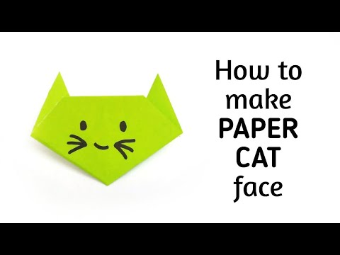 How to make an origami paper cat   Origami / Paper Folding Craft, Videos and Tutorials.