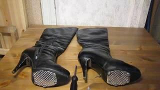 Что сделать с обувью,  что бы точно не падать на льду?