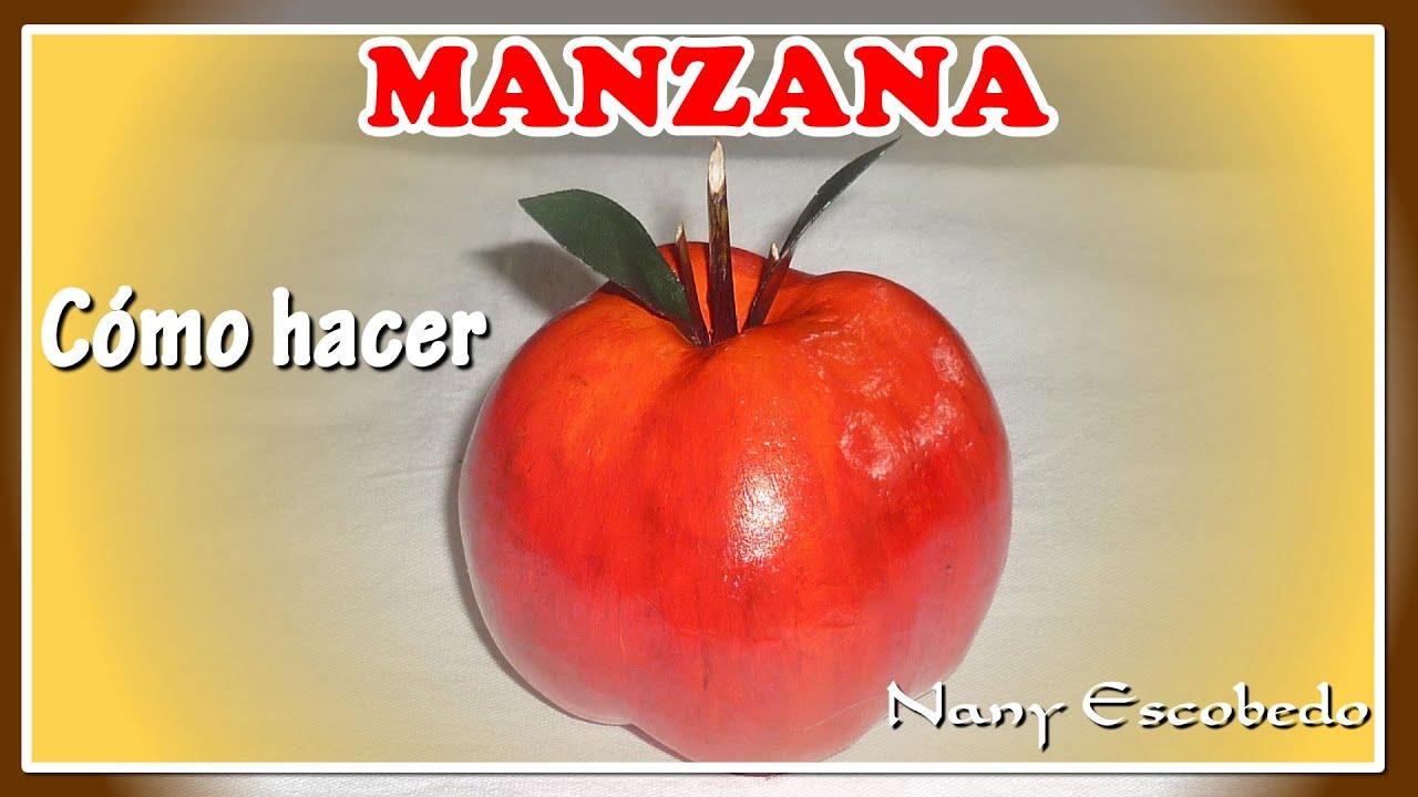 MANZANAS, CÓMO HACER PARA DECORACIÓN - YouTube
