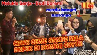 CEWE SAMPE RELA DUDUK DI BAWAH CUY!!! MELUKIS SENJA - BUDI DOREMI   LIVE COVER BY RICKY DAN TRI