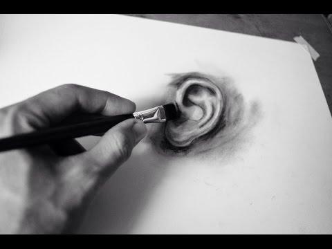 Hướng Dẫn Vẽ Tai Nhanh Bằng Chì Than – HOW TO DRAW EAR 👂🏼