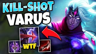 ONE Q = ONE KILL! FULL LETHALITY VARUS IS A LEGIT SNIPER - League of Legends