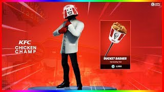 THE NEW SKIN KFC WITH SA PIOCHE VA BIENDEME ON FORTNITE BATTLE ROYALE