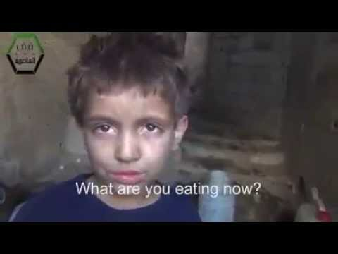 Syrian Children Wishing for a Piece of Bread.