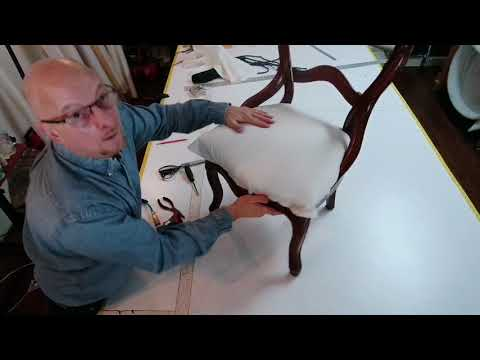 Antique chair upholstery for beginners (Part 2)