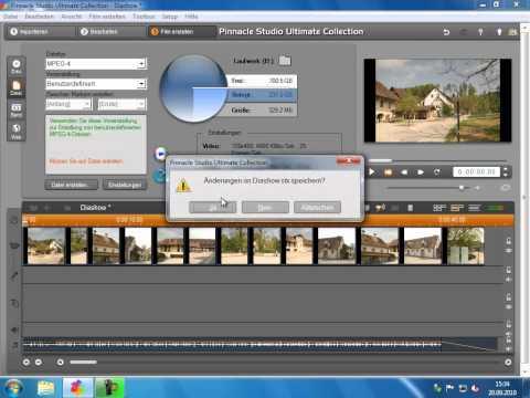 Diaschau exportieren als Datei Pinnacle Studio 14 15 Diaschau