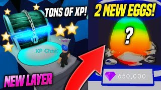 2 *NEW* EGGS And NEW XP LAYER in BUBBLE GUM SIMULATOR UPDATE!! (Roblox)