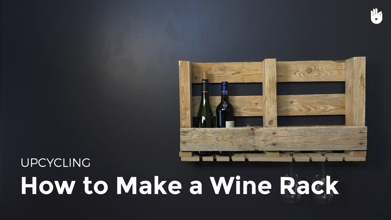 Make A Wooden Pallet Wine Rack Upcycling Youtube