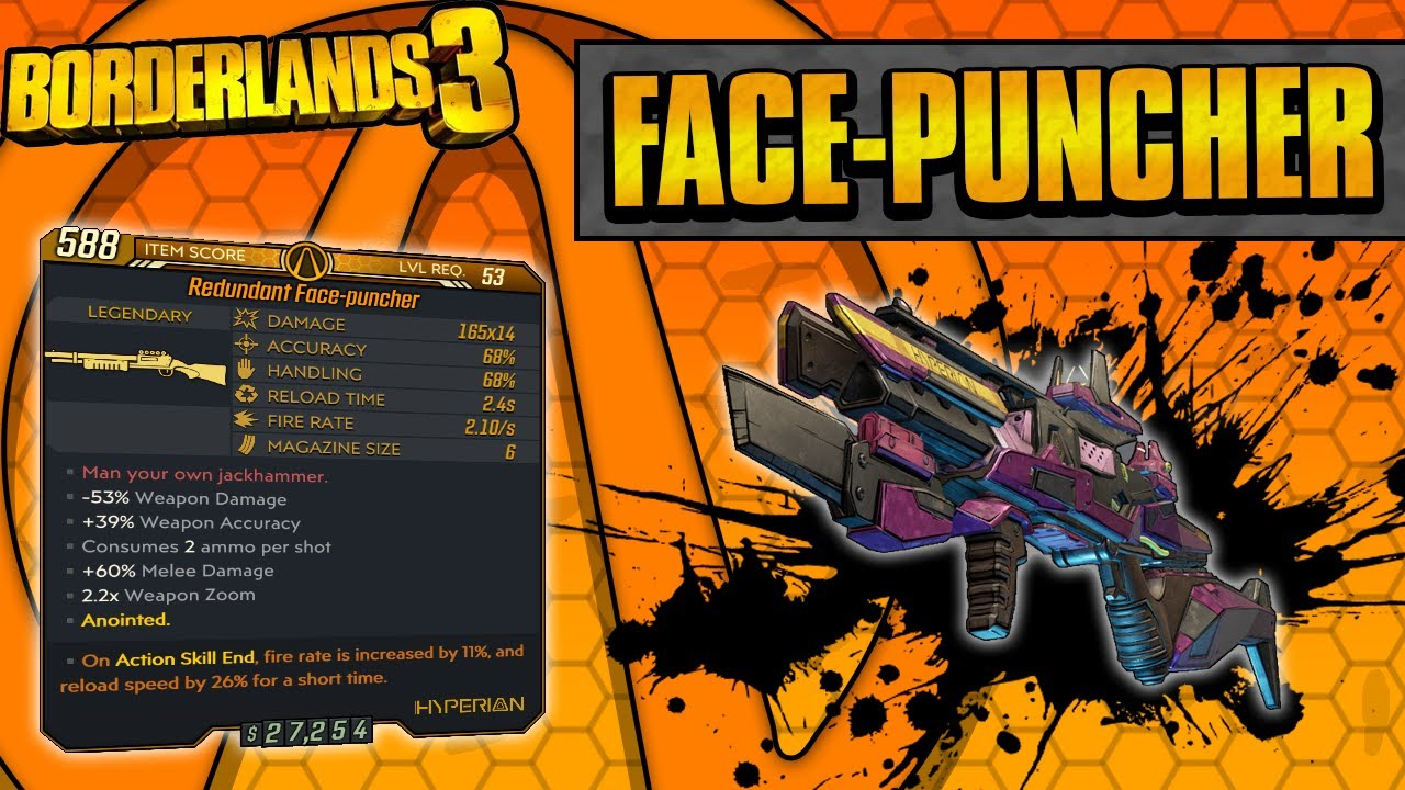 Borderlands 3 | Face-puncher Legendary Weapon Guide (Shoot Melee Bullets!) thumbnail