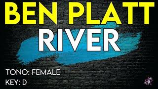 Ben Platt - River - Karaoke Instrumental - Female version