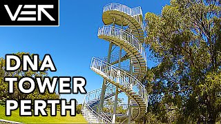 fpv buzzing the dna tower perth vek