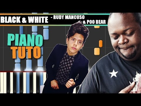 Download Youtube: BLACK & WHITE (Rudy Mancuso & Poo Bear) Piano Tutorial / Cover SYNTHESIA + MIDI & SHEETS
