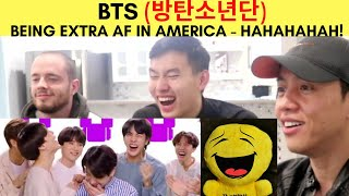 BTS BTS BEING EXTRA AF IN AMERICA REACTION VIDEO BY REACTIONS UNLIMITED