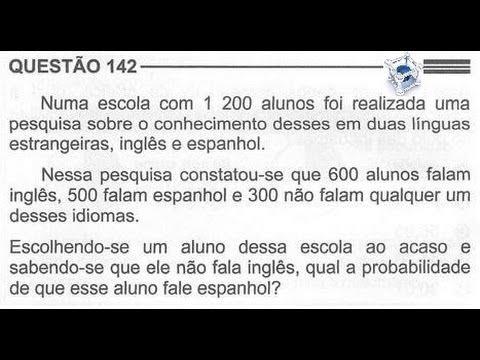 ENEM 2013/2014 QUESTÃO COMENTADA E RESOLVIDA 142  (PROVA CINZA 2° DIA)