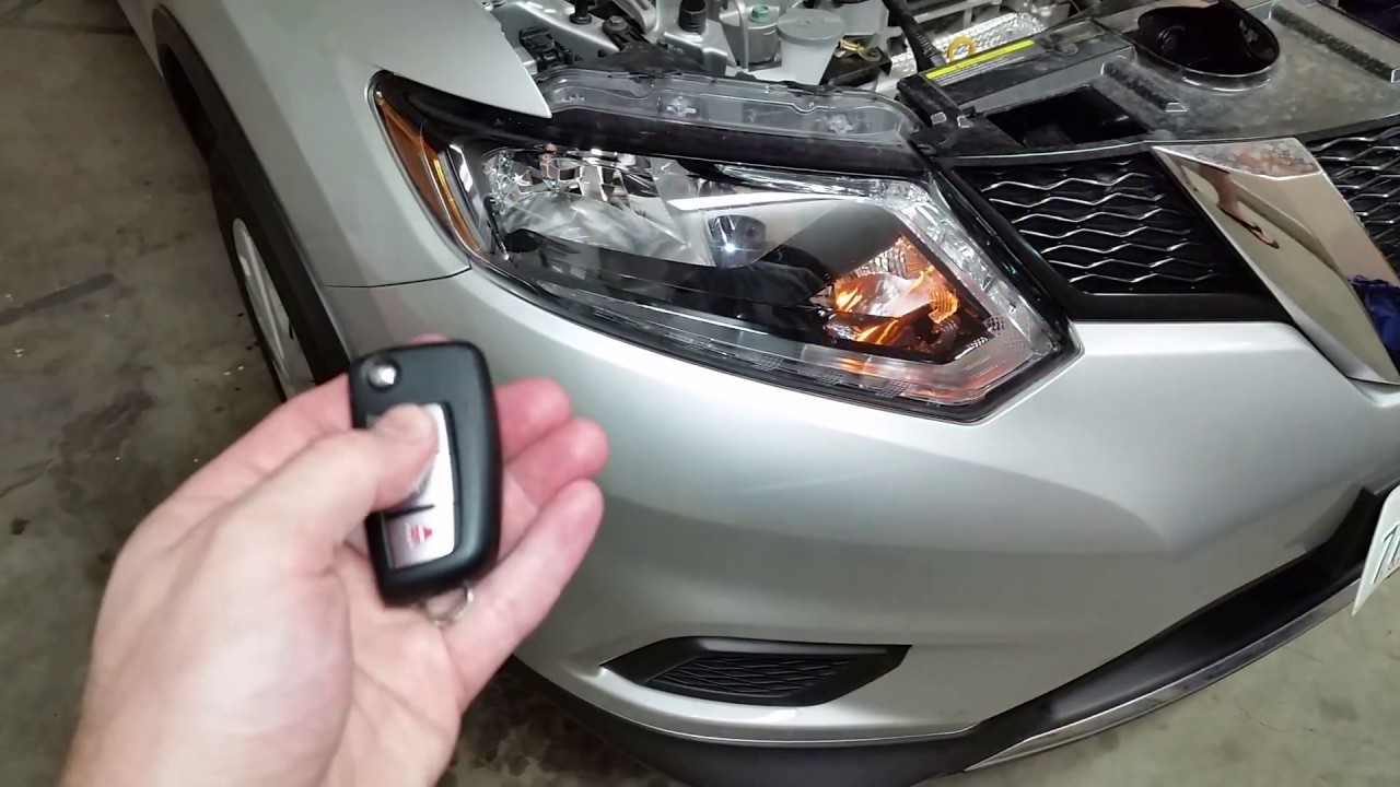 2017 2018 Nissan Rogue Suv Testing Key Fob After Changing Dead Battery Lights Flashing