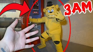 (FNAF IS REAL!) Overnight Challenge at Freddy Fazbears Pizza Place at 3AM...*PART 1*
