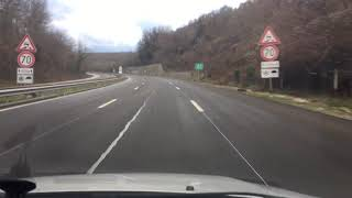 "Bulgarian motorway A5 ""Cherno More "" varna - Bourgas Bulgarian roads"